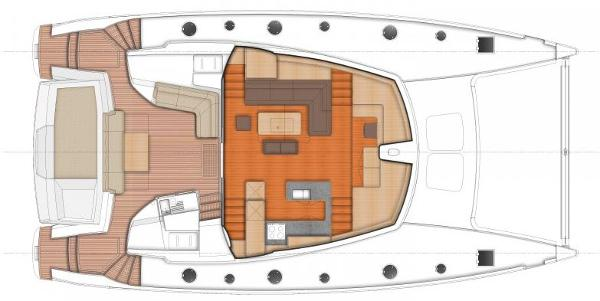 Fountaine Pajot Sanya 57 Upper Deck Layout Plan
