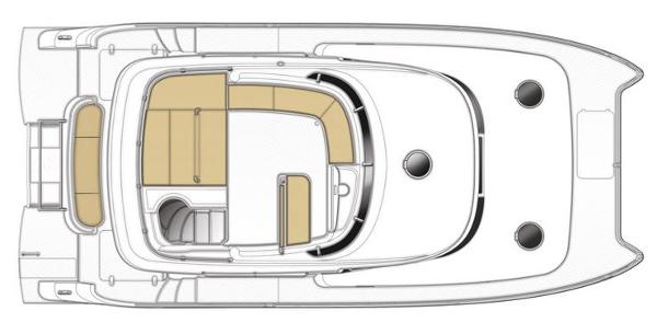 Fountaine Pajot Summerland 40 LC Flybridge Layout Plan