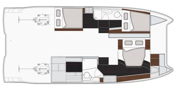 Fountaine Pajot Summerland 40 LC Lower Deck Layout Plan