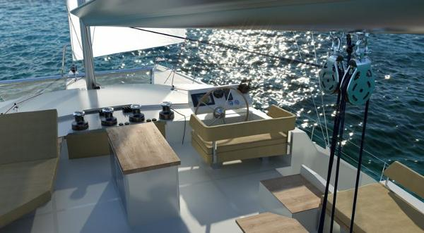 Fountaine Pajot Victoria 67 Cockpit