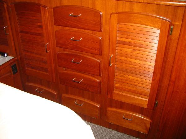 Master stateroom storage & organization