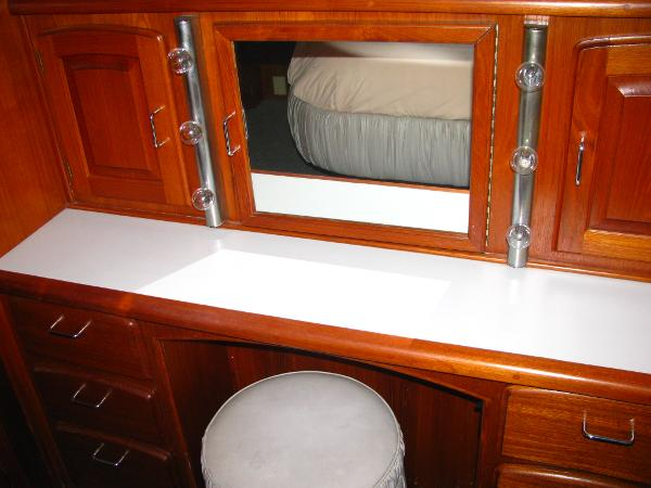 Master stateroom and vanity