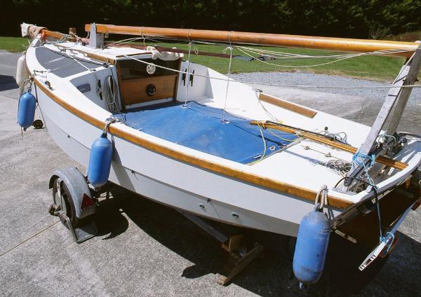 Cornish Crabbers Shrimper 19 On her trailer