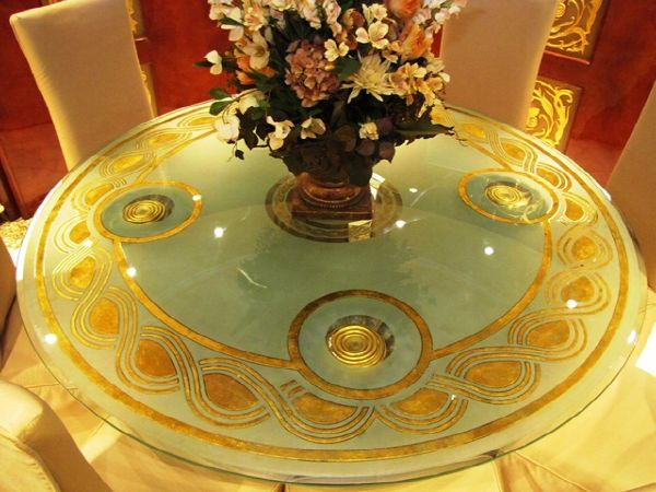 Millennium Yacht Dining Gold-Plated Table
