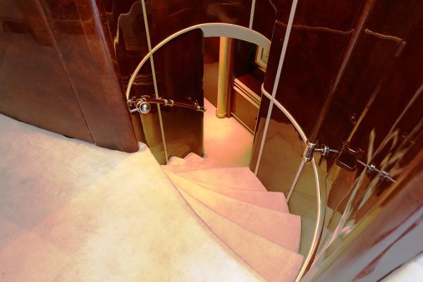 Millennium Yacht Hallway Stairs