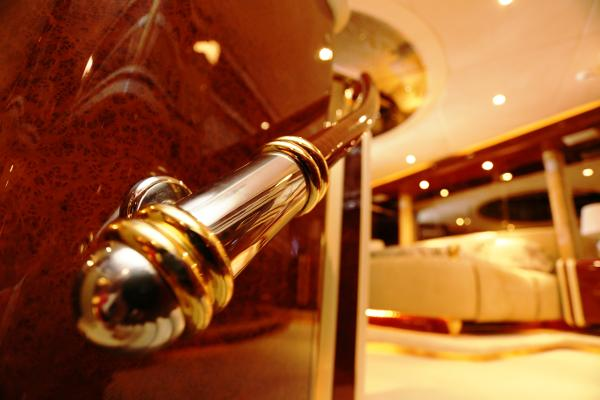Millennium Yacht Gold-Plated Handles