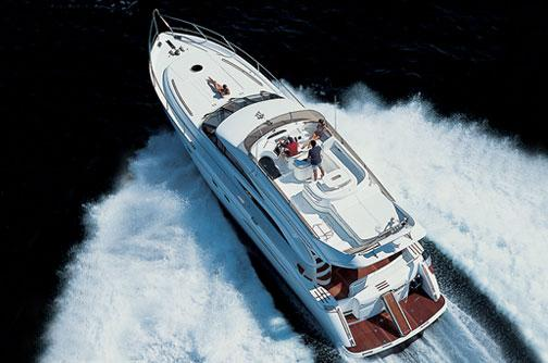 Princess 61 Manufacturer Provided Image: View From Above