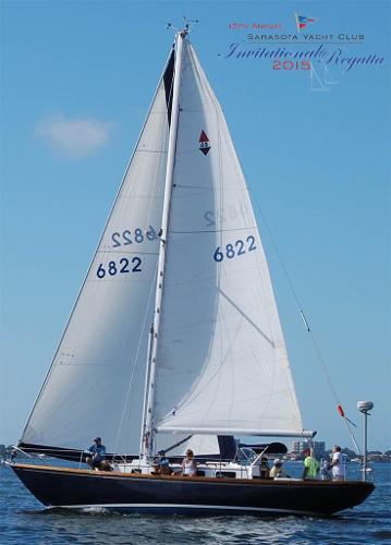 Bristol 40 L L Windancer Under Sail and Regatta flagship yacht
