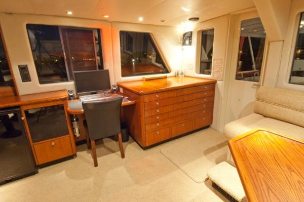 Captains Desk & Chart Area