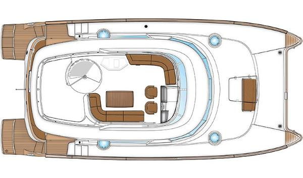 Fountaine Pajot Cumberland 47 LC Flybridge Layout Plan