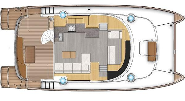 Fountaine Pajot Cumberland 47 LC Upper Deck Layout Plan