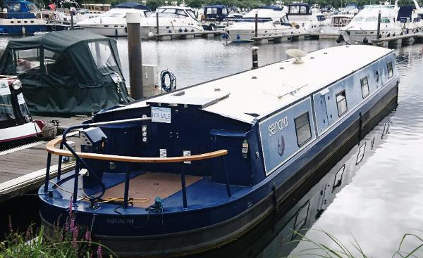 Wide Beam Narrowboat Aqualine Canterbury LE 65 x 11