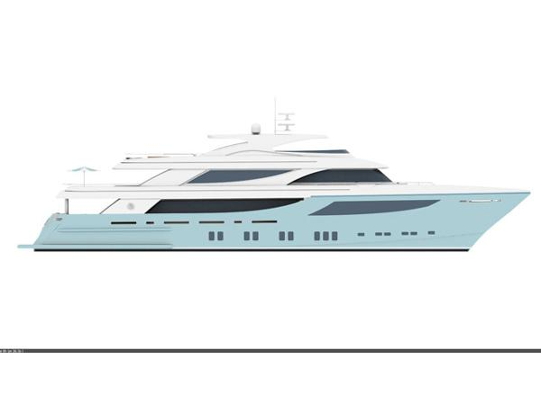 Motoryacht Project Side view