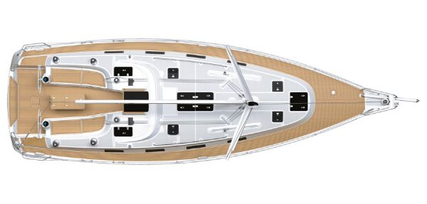 Bavaria 40S Cruiser Upper Deck Layout Plan
