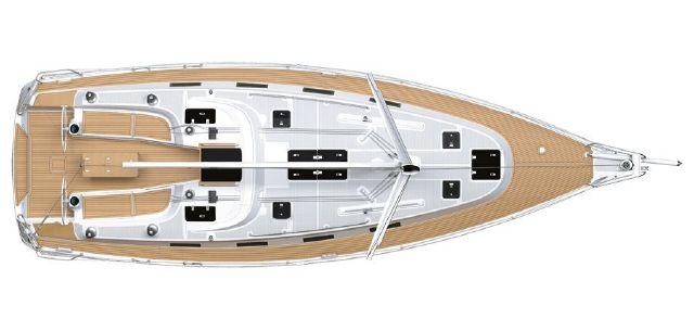 Manufacturer Provided Image: Bavaria 40S Cruiser  Layout Deck