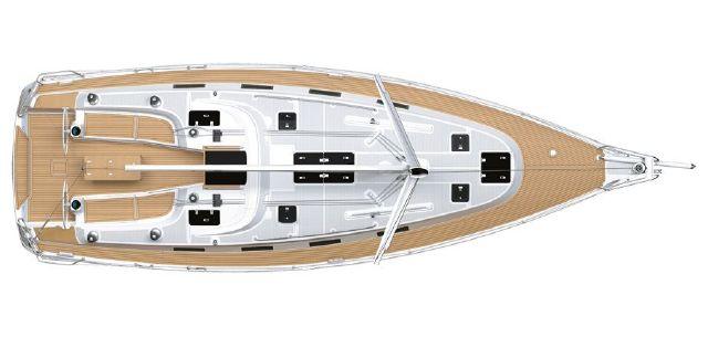 Manufacturer Provided Image: Bavaria 40S Cruiser  Layout Deck