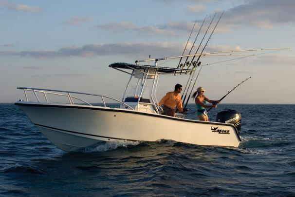 This boat is perfect for fishing excursions with family and friends.