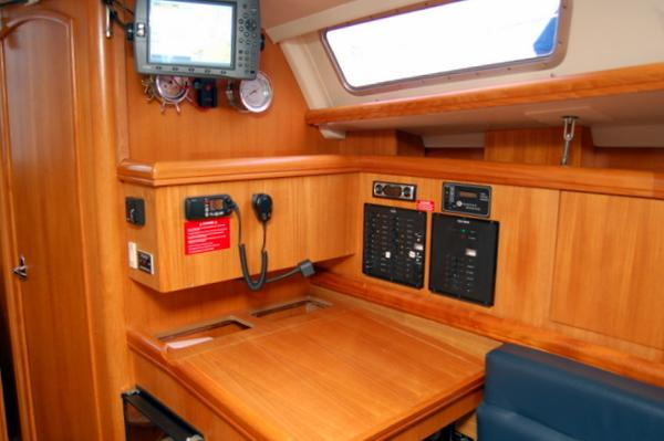 Chartplotter at nav station...