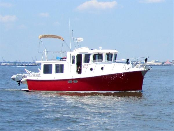 American Tug 34 Red Rover cruising