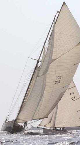 Under sail_bow view