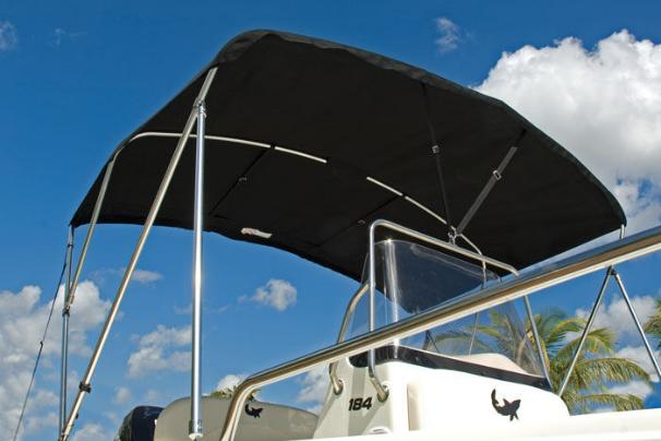 The optional Bimini top is a great way to stay cool while out on the water.