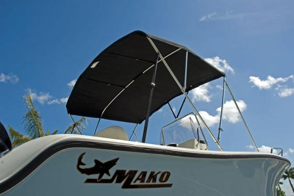 The Bimini top is just one of the many options on the 184 CC.