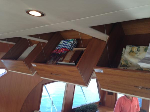 Overhead storage in galley