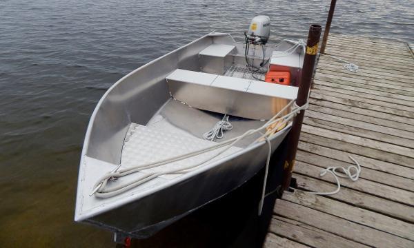 Commercial 15' Aluminum Tiller Boat