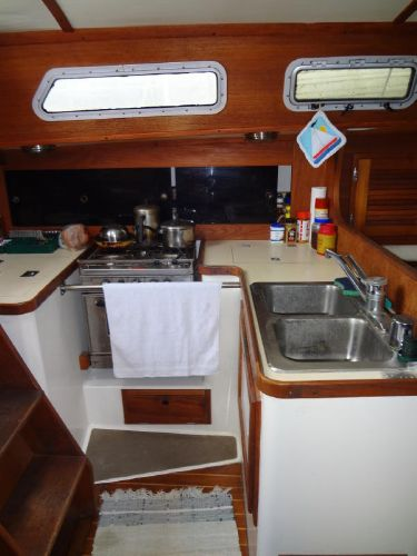 Tight Galley next to Companionway