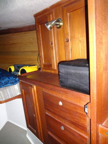 Cabinetry in Forepeak Stateroom