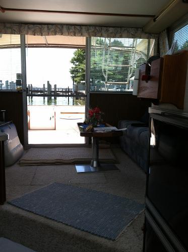View back through Salon