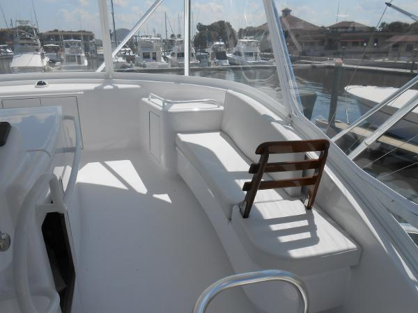 Starboard side seating with reversible backrest