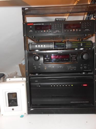 A/V equipment in salon attic