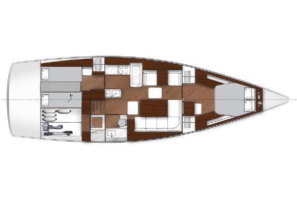 Bavaria Vision 46 Lower Deck Layout Plan