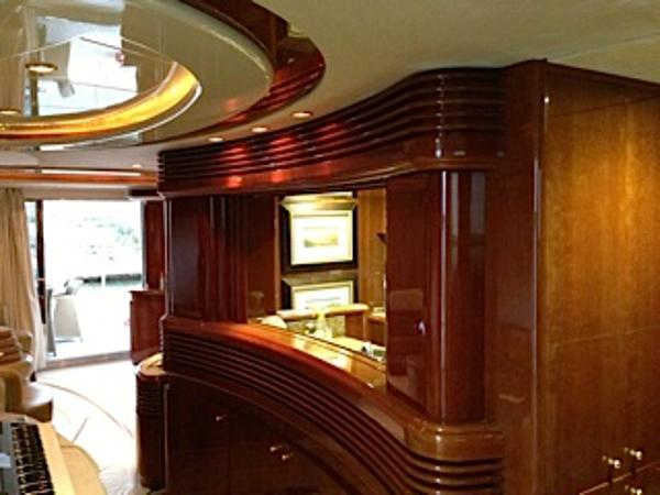 Salon / Bar and Galley View
