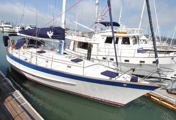 Valiant   cutter Avenand lying Sausalito Yacht harbor