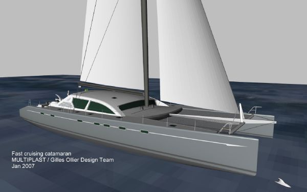 Multiplast Custom sailing catamaran