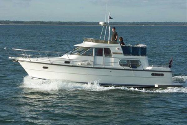 Nimbus 37 Trawler Nimbus 37 Trawler afloat