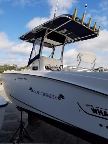 Boston Whaler 240 Outrage Port Side View