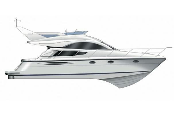 Fairline Phantom 40 Manufacturer Provided Image: Profile