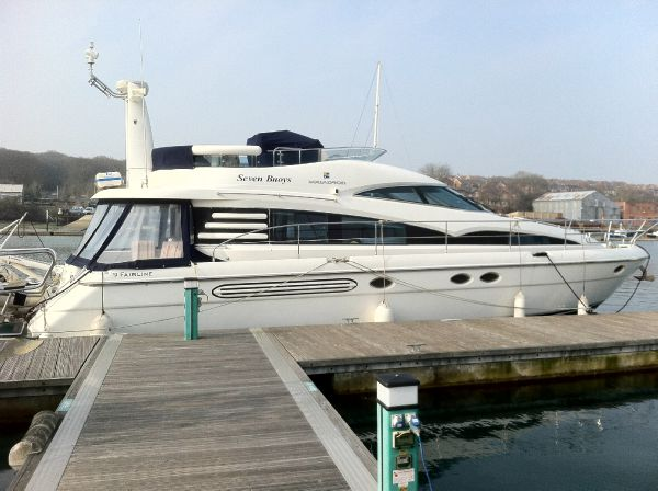 Fairline Squadron 52 Moored