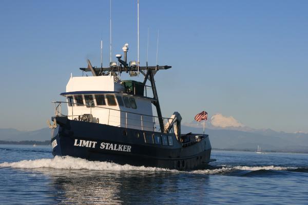 Custom Steel Yacht Trawler LLC Under Way