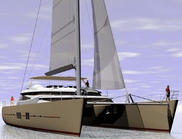 Bimini 110' Catamaran Redering
