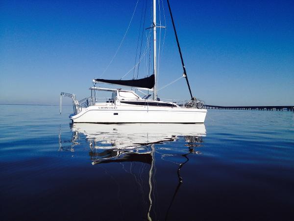 Gemini Catamaran Legacy 35 At anchor