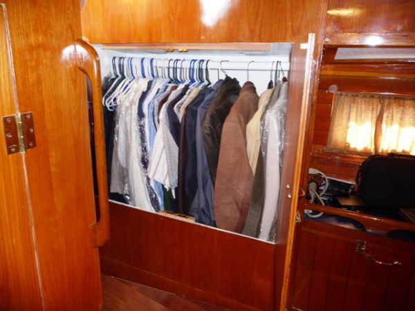 Master stateroom double locker