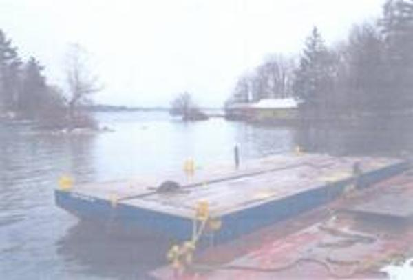 "CUSTOM BUILT 2004 40' x 17'2"" x 4' Steel Sectional Barge"