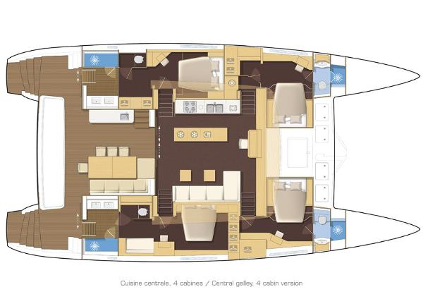 Lagoon 620 4 Cabin Layout Plan