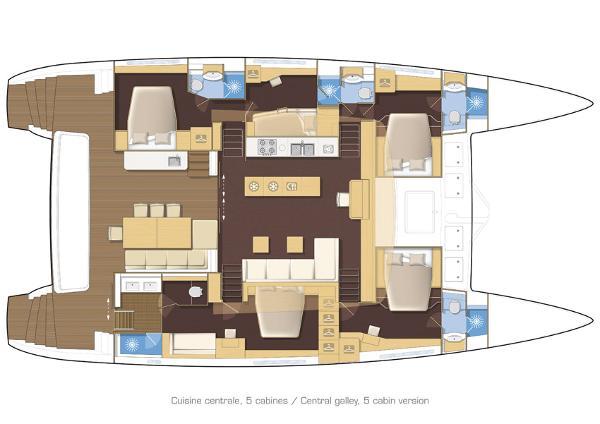 Lagoon 620 5 Cabin Layout Plan
