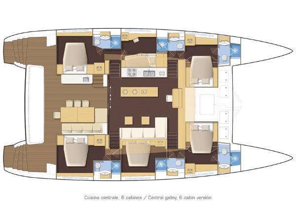 Lagoon 620 6 Cabin Layout Plan