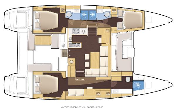 Lagoon 450 3 Cabin Layout Plan
